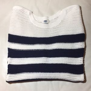 Blue and White Striped Swearer 💙 OLD NAVY